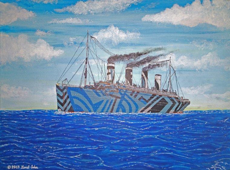 Nouvelle peinture du HMT Dazzle Olympic