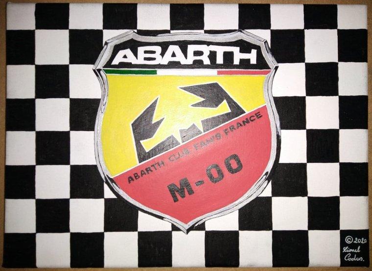 Une  Peinture Badge Abarth club Fan's France pour le président