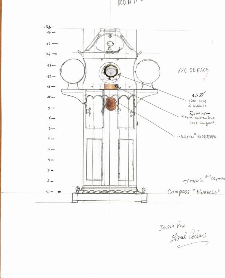 Hello everyone, here is my illustration of the Titanic compass.  Bonjour à tous le monde, voici mon illustration du compass du Titanic .
