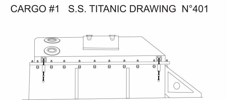 Hello everyone, here is my illustration of the N#1 cargo hold of the Titanic .  Bonjour à tous le monde, voici mon illustration  de la cale de chargement N#1 du Titanic .