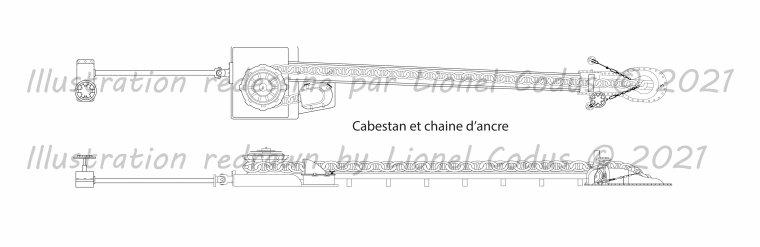 Hello everyone, here is my illustration capstan and chain of the Titanic .  Bonjour à tous le monde, voici mon illustration  cabestan et chaine du Titanic .