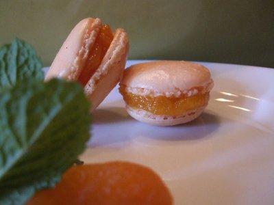Macarons aux abricots