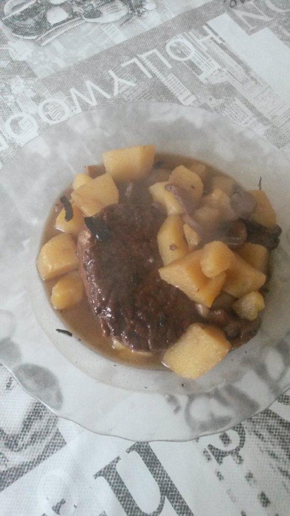 crépinettes aux champignons et aux pommes de terre