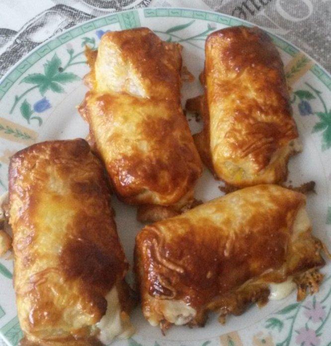 roulés au jambon gratiner