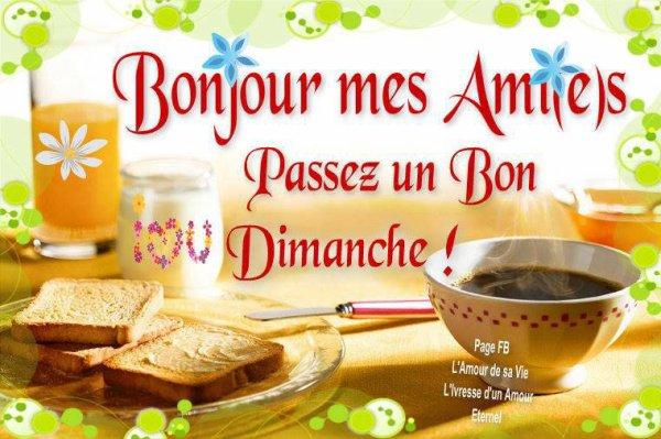 A VOUS TOUS,ET TOUTES,BONNE JOURNEE DE DMANCHE !!!!!!!