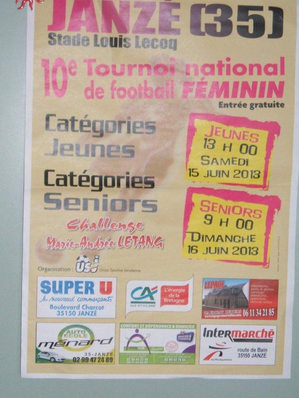 Engagement tournoi 2013