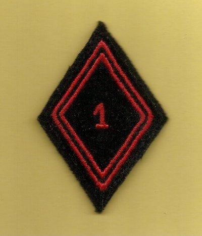 losanges de bras modèle 45 - 1er Régiment du Génie