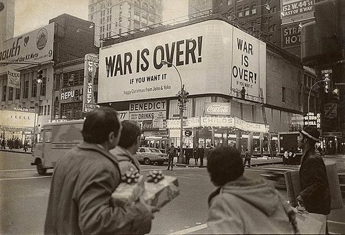 war is over.