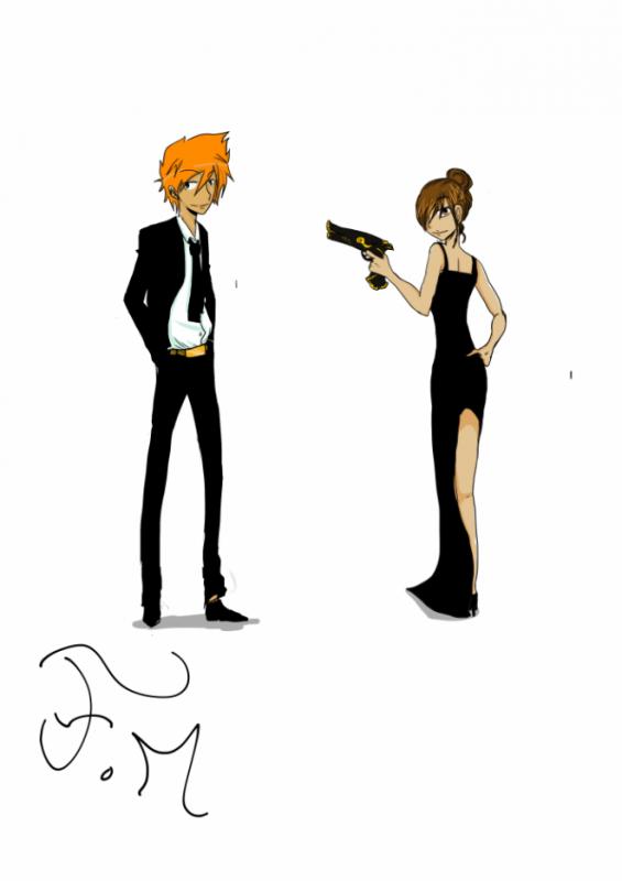 Voici Tsumaki et Mina (de FM200) en mode espion.