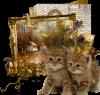 Une jolie création du blog de mon amie Marie-Jo! Deux adorables châtons! bisous! Ginette!