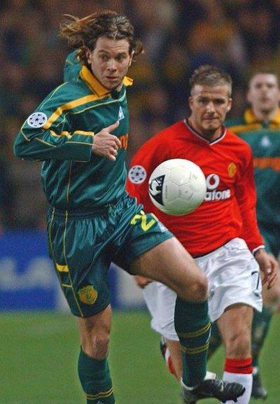 Olivier Quint lors de la Ligue des Champions 2001-2002.
