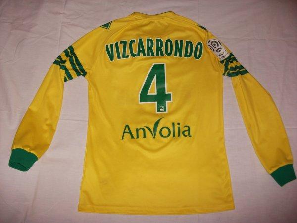 Saison 2013 - 2014 : Maillot porté par Oswaldo Vizcarrondo.