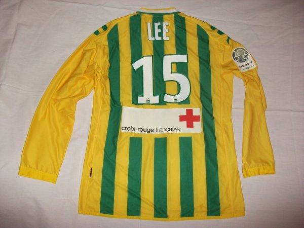 Saison 2010 - 2011 : Maillot porté par Lee Yong-Jae à Boulogne / Mer,maillot très rare car sponsor porté uniquement pour ce match .