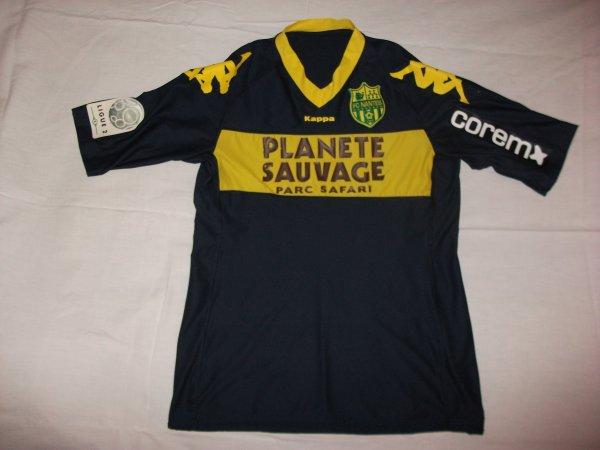Saison 2010 - 2011 : Maillot porté par Papa Malick Ba à Reims,maillot très rare car sponsor porté uniquement pour ce match .