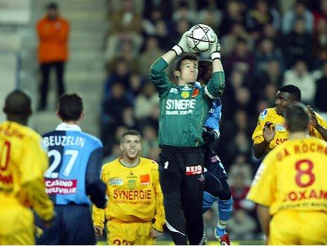 Mickaël Landreau face au Havre.