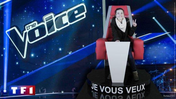 Moi, sur le siège de The Voice !!