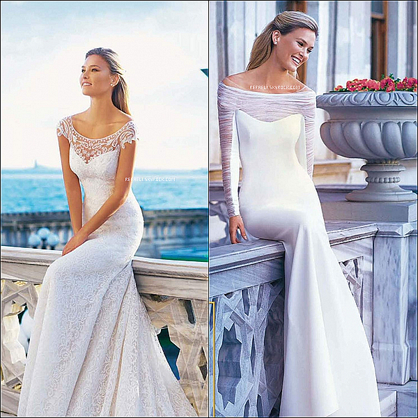 .  A l'approche du mariage de Bar, je vous propose de visionner un shooting photo de Bar dans quatre robes de mariées différentes. Kiffe l'article pour être prévenu(e) ! :)  .