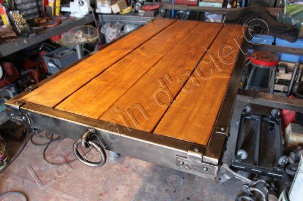 Table De Ferme Antique La Main D 39 Acier