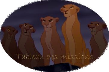 Le tableau des missions