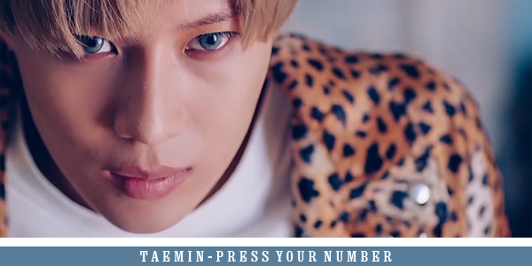 COUP DE COEUR - PRESS YOUR NUMBER, TAEMIN