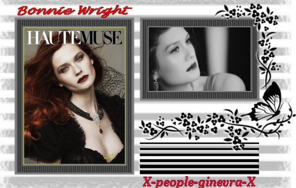Bonnie Wright pose pour le magasine Haute muse  ^^