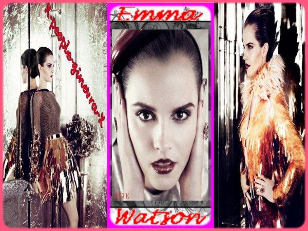 Emma Watson pose pour le magasine Vogue  $)