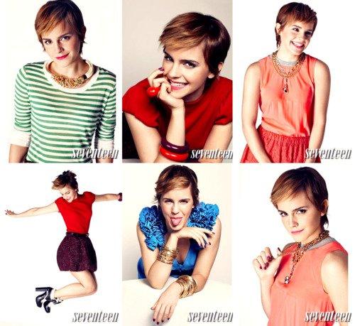Emma Watson pose pour le magasine Seventeen  $)