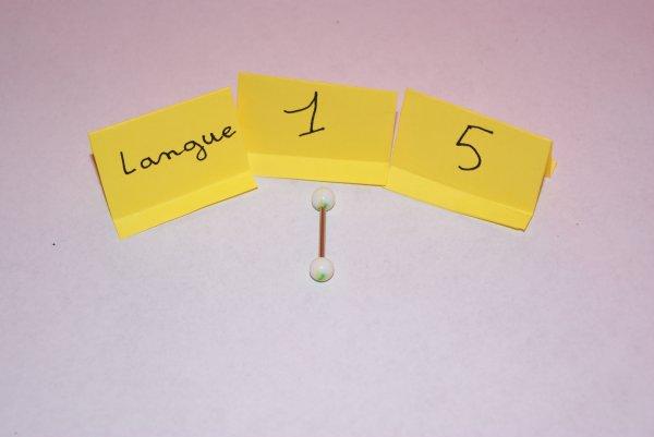 Piercings langue