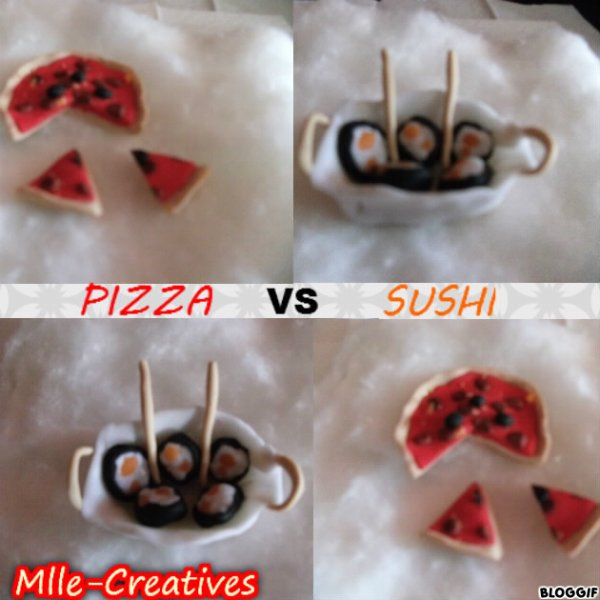 Sushi VS Pizza !