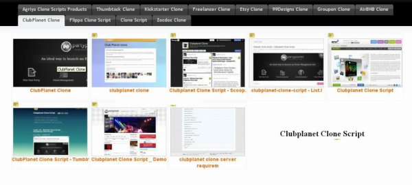 Collections of information about clubplanet clone scripts