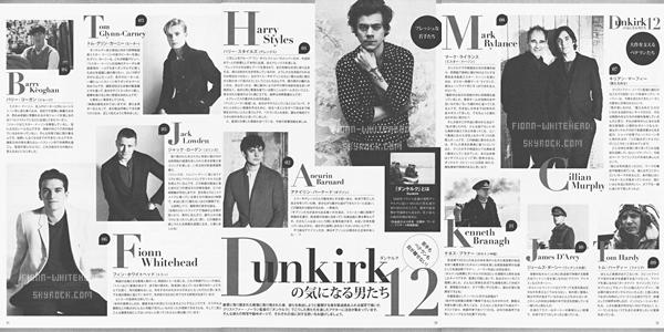 Nouvelle photo du cast 'Dunkirk' pour la promotion du film dans un magazine Japonais :