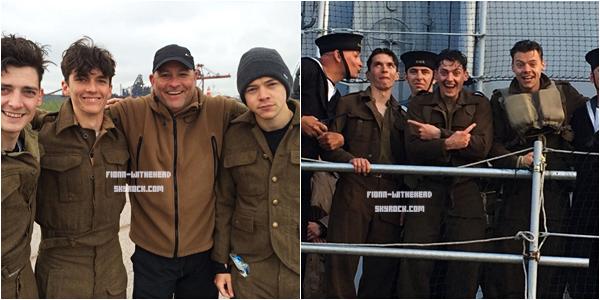 Nouvelles photos de Fionn avec Aneurin, Harry et le cast de Dunkirk lors du tournage :