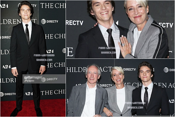 11.09 - Avant première de The Children Act - New York :