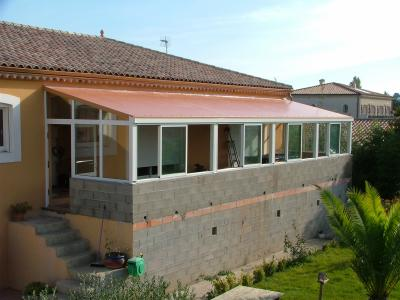 veranda sur muret - alu pvc