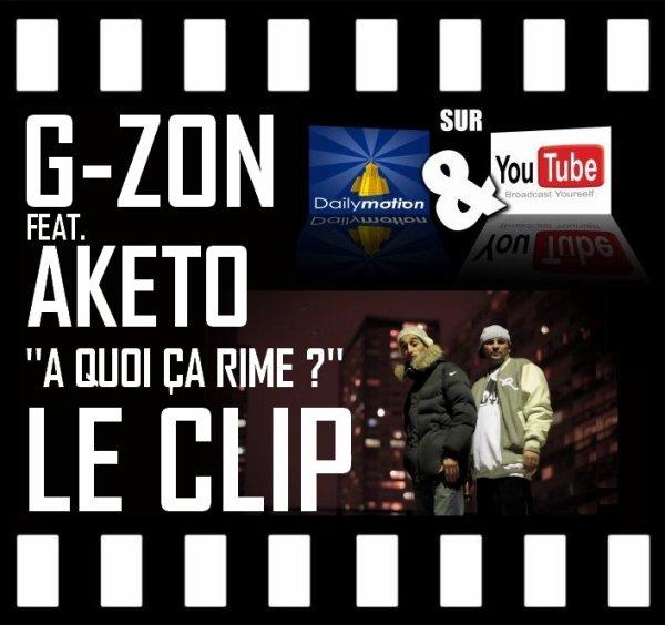 """CLIP G-ZON (LA MEUTE) - A QUOI CA RIME ? FEAT. AKETO (SNIPER) EXTRAIT DE L'ALBUM """"MUSIQUE NUISIBLE"""" LE 12 SEPTEMBRE 2011 DANS LES BACS !!!"""