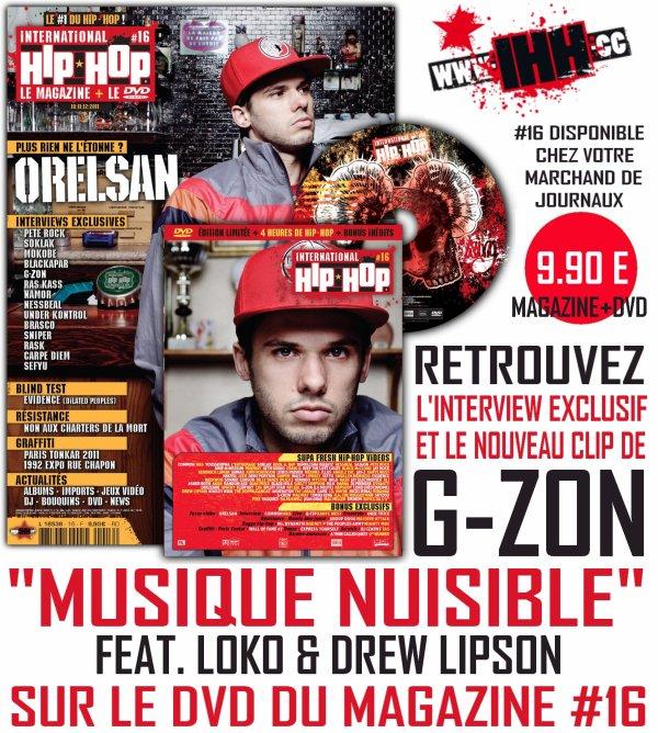 """CLIP G-ZON (LA MEUTE) - MUSIQUE NUISIBLE FEAT. LOKO (NEOCHROME) & DREW LIPSON EXTRAIT DE L'ALBUM """"MUSIQUE NUISIBLE"""" DANS LES BACS !!!"""