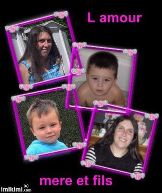 Mon filleul d amour et sa maman et mon bébé...