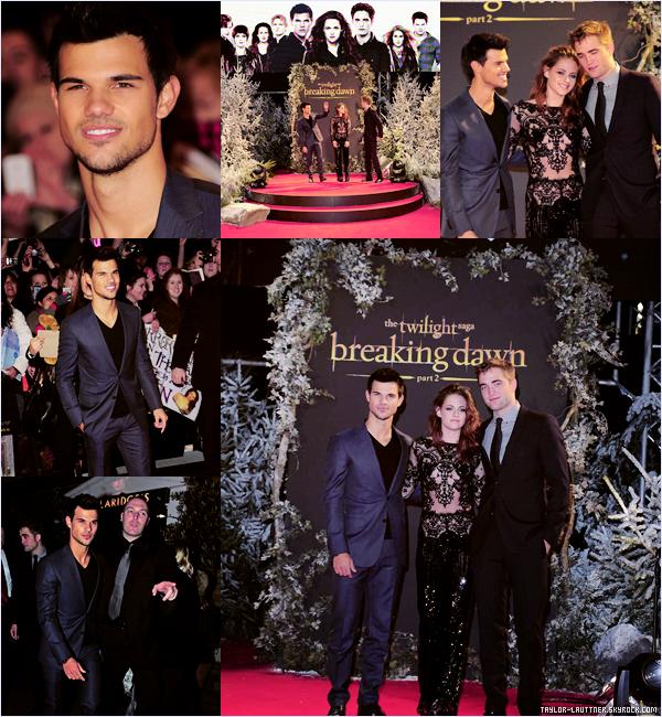 .  12.11.12  Le cast était à l'avant première de Breaking Dawn Part. II à Londres.   .