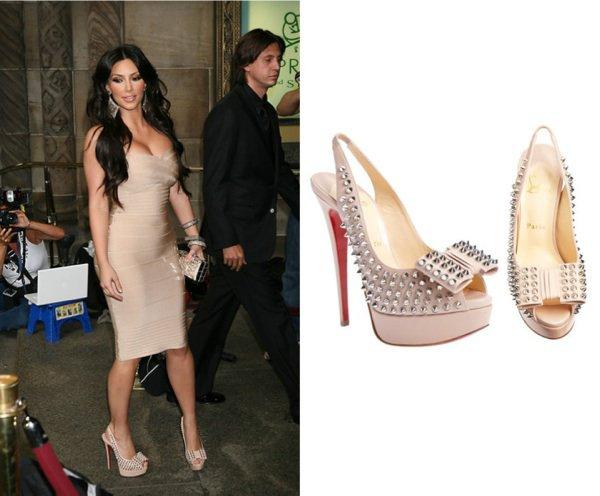 Kim Kardashian en mode Louboutin !