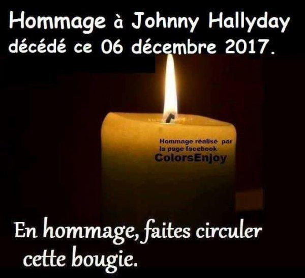 j'ai partager pour johnny hallyday