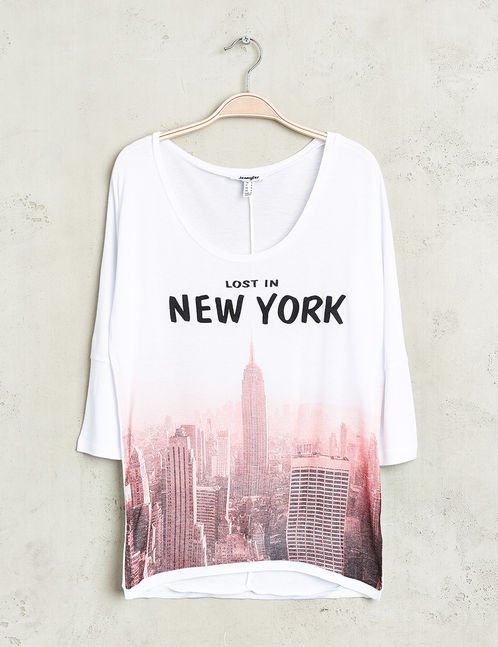 top new york manche mi courte