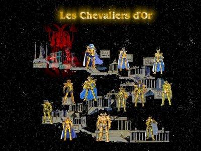les 12 chevalier d'or et les douze maison du zodiaque