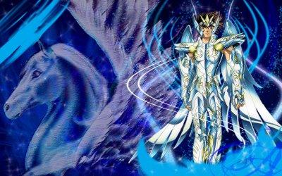 le beau seiya en armure divine