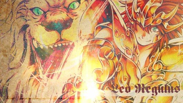 Regulus du lion chevalier d'or de Lost Canvas