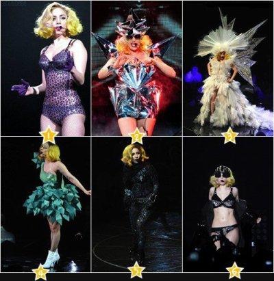 Quelle est votre tenue de Lady Gaga préférée ???