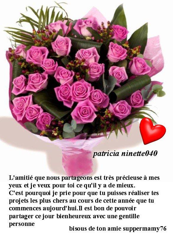 Joyeux Anniversaire Patricia Ninetteo40 Amour Et Amitiee