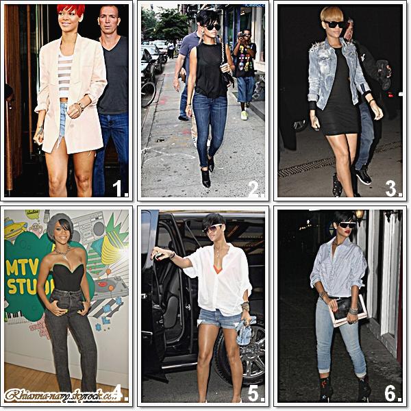 Je vous est choisi quelques photos des Looks de Rihanna , lesquels et ton préféré ? Lesquels fait un top ? ou bien un Flop?