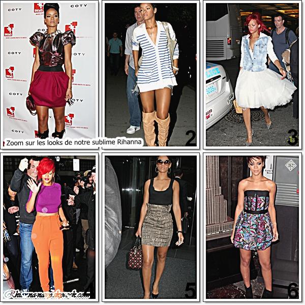 Quel soit sur le tapis rouge , ou en sortie notre Rihanna est toujours bien habillés! mais n'en fait elle pas trop défois?  Je vous est choisis quelques tennues , a toi de dire si tu aimes ou pas, lesquelles font un top , ou bien lesquels font un flop ?