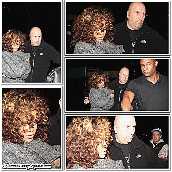 31 Octobre -> Rihanna arrive à son hôtel à Stockholm, Suède