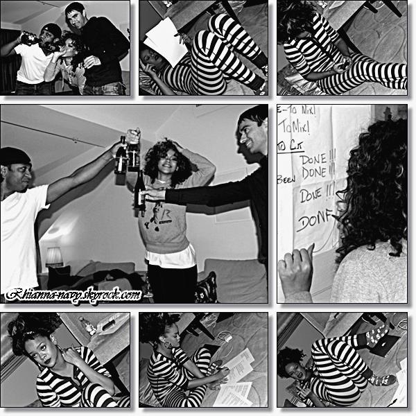 Quelques photos personnelles de l'enregistrement de l'album « Talk That Talk » ont était dévoilés , Tu aimes ? Elle est magnifique <3